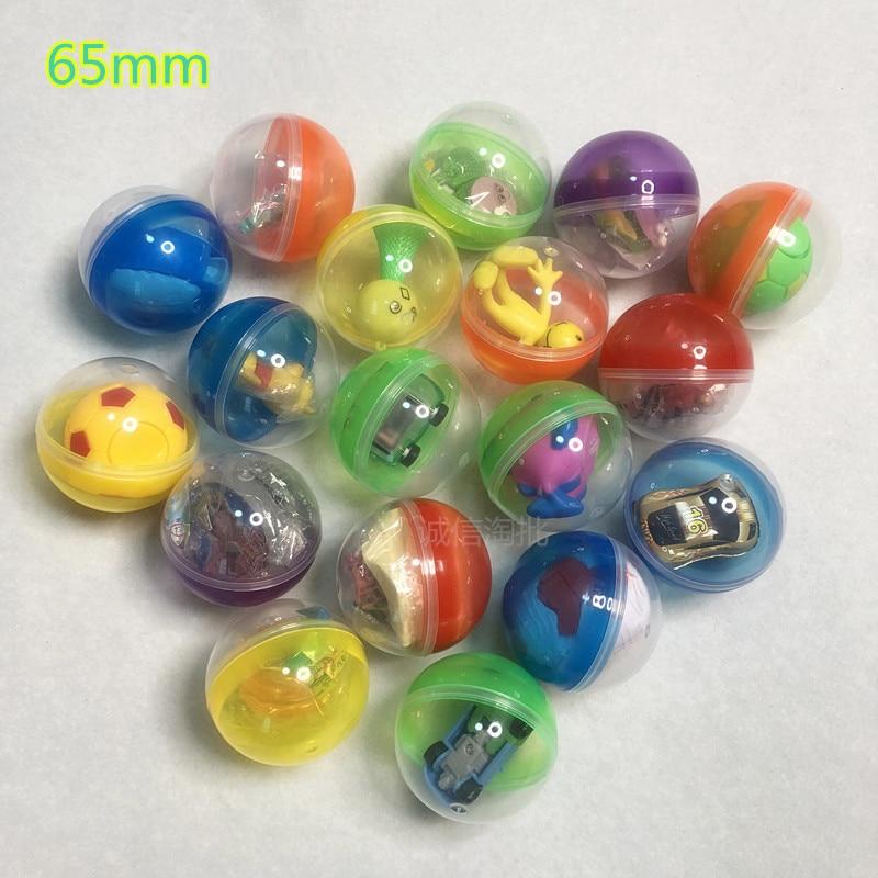 Wholesale 65mm 50PCS Novelty Mini Surprise Egg Surprise Ball Creative Toys Gashapon Kids Toy Gadget Children Surprise фото