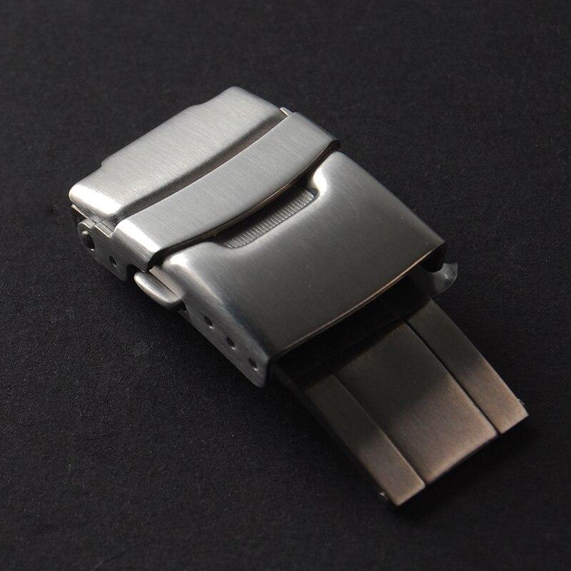 Alta qualidade 18mm 20mm 22 milímetros Dobre Fecho de Segurança fivela de Fecho de Implantação Para SEIKO CASIO