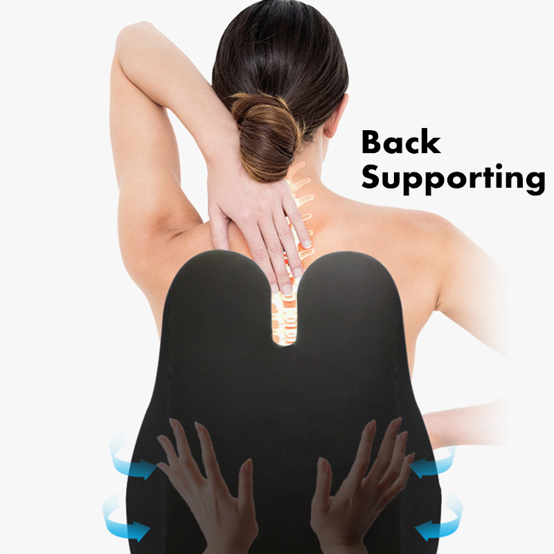Car Seat Office Sofa Chair Back Support Pillow Massager For Back Relief Spine Pain Posture Corrector Massage Pillow  Health Care