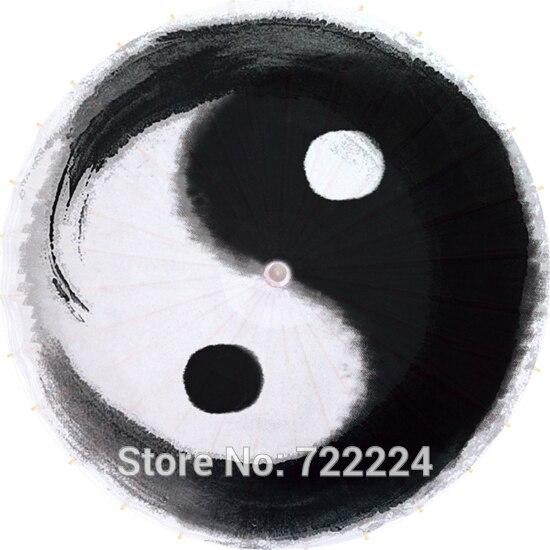 Dia 84cm Chinese Taoist Yin Yang gossip pattern ink painting ... Yin Yang Labyrinth Garden Designs Html on