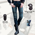 2016 Uglybros MOTORPOOL Jeans Leisure Riding Motorcycles Jeans Equipped With Protective Gear UBP-002 Dusty Blue RELAXED Woman