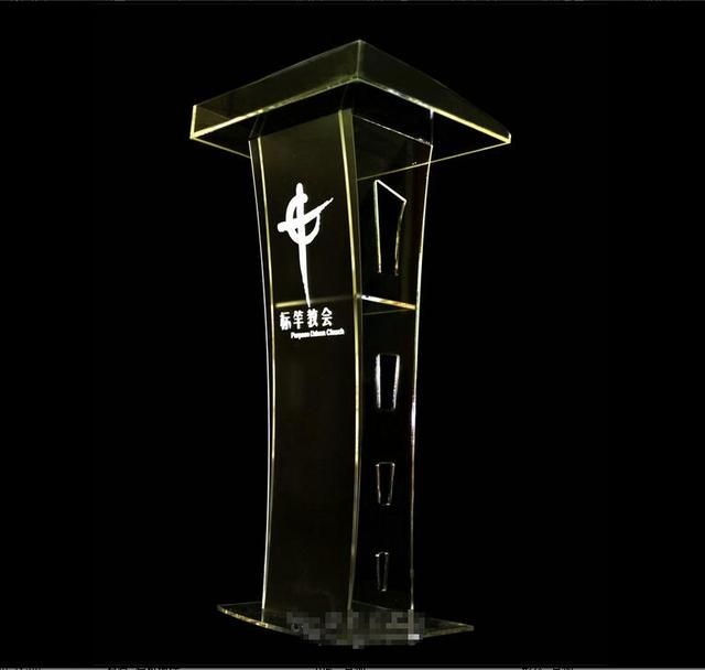 Free Shipping Organic glass pulpit church / acrylic pulpit of the church
