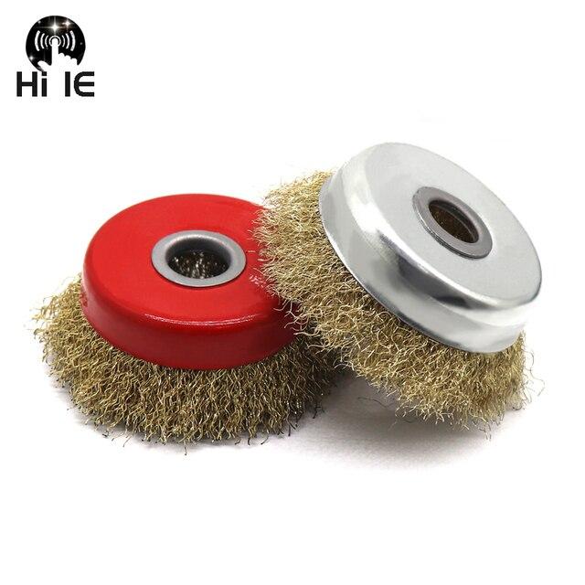 Envío gratis 1 piezas 125mm forma de cuenco de alambre polaco rueda para 125 amoladora de ángulo de cepillo de alambre de Metal de acero pulido derust