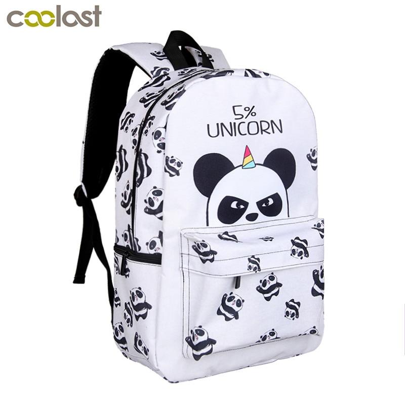 9e44b201251 US $19.4 50% OFF|Kawaii 5 Percent Unicorn Panda Backpack For Teenage Girls  Children School Bags Cartoon Backpack Kids Book Bag Schoolbags Gift-in ...