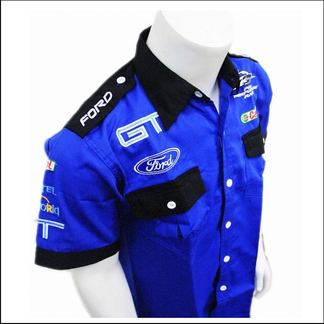 New arrival brand professional ford f racing suit blue