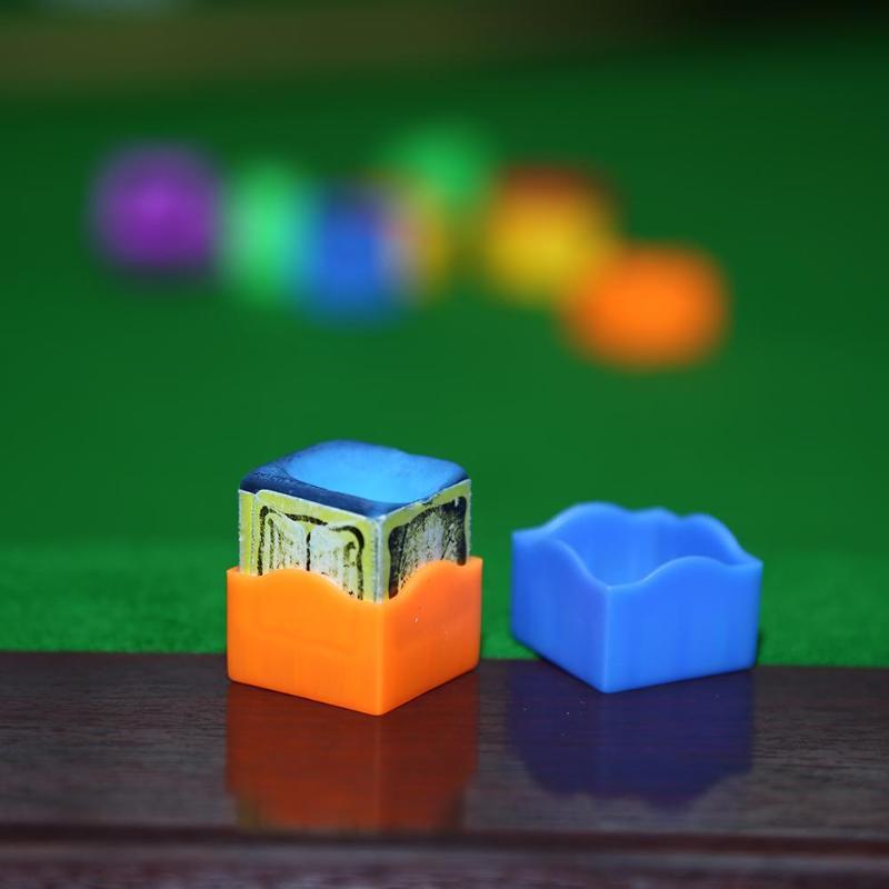 12pcs/set Portable Multi-color Plastic Pool Billiard Cue Chalk Holder Cases For Billiards Player Club Bar Snooker Accessories 40