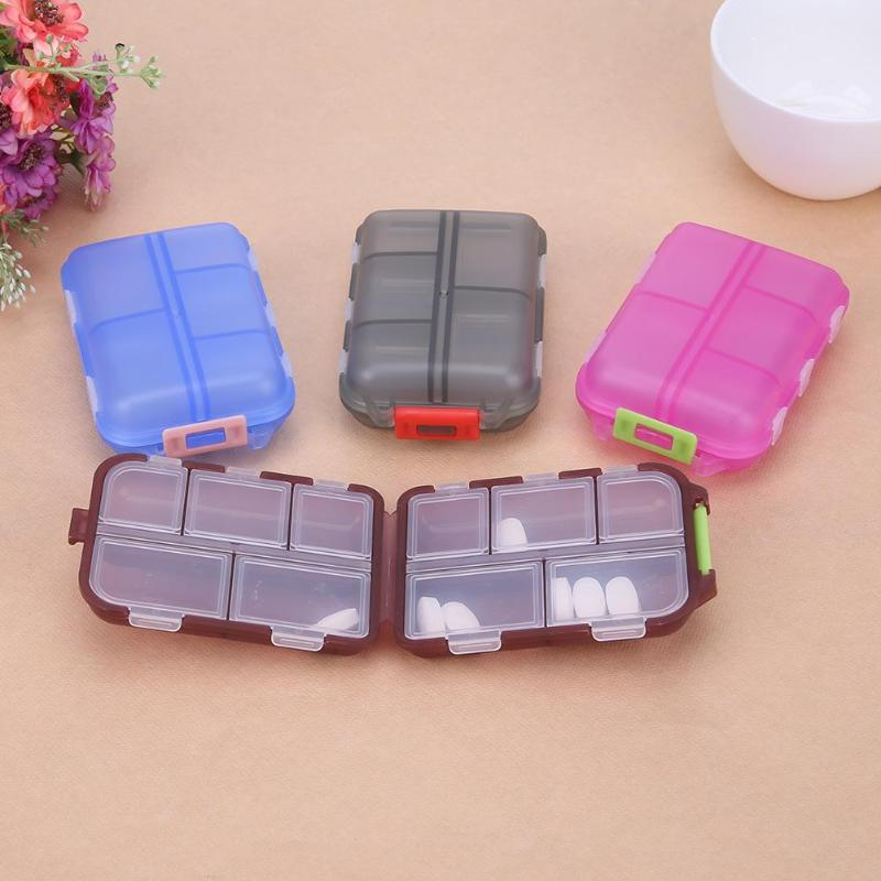 Besorgt Mini Pille Box 10 Grids Medizin Pille Tablet Box Organizer Fall Weekly Medizin Container Organizer Fall Für Pflege Pillen Box