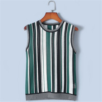 Tunjuefs Design Lolita Striped Tank Tops 2019 New Summer Slim Lurex Tank Tops Women Pullovers Sleeveless Jumper Runway Vest Cute