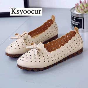Image 3 - Brand Ksyoocur 2020 New Ladies Flat Shoes Casual Women Shoes Comfortable Round Toe Flat Shoes Spring/summer Women Shoes X05