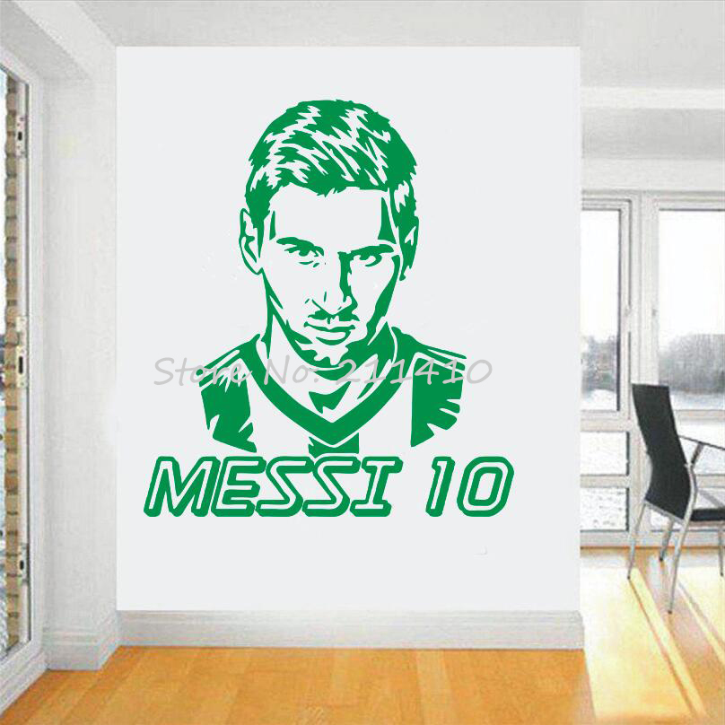 Futbol takımı logosu Duvar Sticker Sanat Messi vinil duvar sticker - Ev Dekoru - Fotoğraf 5