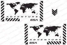 "MTKRACING Free shipping GSA Adventure Motorcycle Reflective Decal Kit ""World Adventure "" for Touratech Panniers"