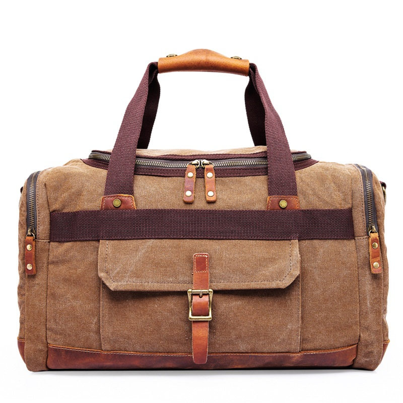 High Quality Multifunctional Heavy Duty Canvas Travel Bags Large Capacity Men Hand One-shoulder Luggage Travel Duffle Bags DB41 men army men s bags large capacity travel one shoulder backpack tactics chest package travel shoulder bag