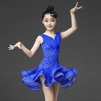 Fashion Latin Dance Dress for Children Tango Samba Salsa Ballroom Dancewear Clothes Modern Rumba Stage Performance Clothing