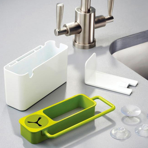 Image 2 - Полезная кухонная коробка для хранения губка держатель для слива мыла полка органайзер корзина инструменты для мытья кухонные аксессуары Organizador