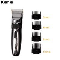 Kemei Hair Trimmer Clipper Electric Shaver Beard Trimmer Professional Rechargeable Haircut Titanium Ceramic Blade Clipper Men