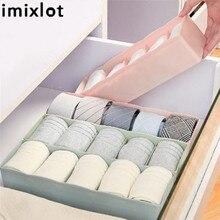 Imixlot 5 Grids Storage Basket Drawer Wardrobe Organizer Underwear Plastic Container Box Makeup Jewelry