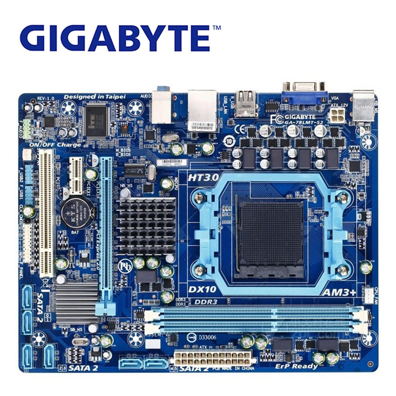 Prise AM3 +/AM3 Pour AMD DDR3 Gigabyte GA-78LMT-S2 Carte Mère 760g DDR3 USB2.0 16g 78LMT S2 De Bureau carte mère 78LMT-S2 Utilisé