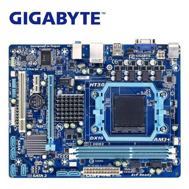 Socket AM3+/AM3 For AMD DDR3 Gigabyte GA-78LMT-S2 Motherboard 760G DDR3 USB2.0 16G 78LMT S2 Desktop Mainboard 78LMT-S2 Used