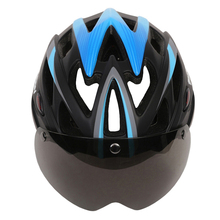 MOON Goggles Cycling Helmet In-mold Mountain Road MTB DH Bike Bicycle Helmet With Magnetic Goggles or Glasses Casco Ciclismo