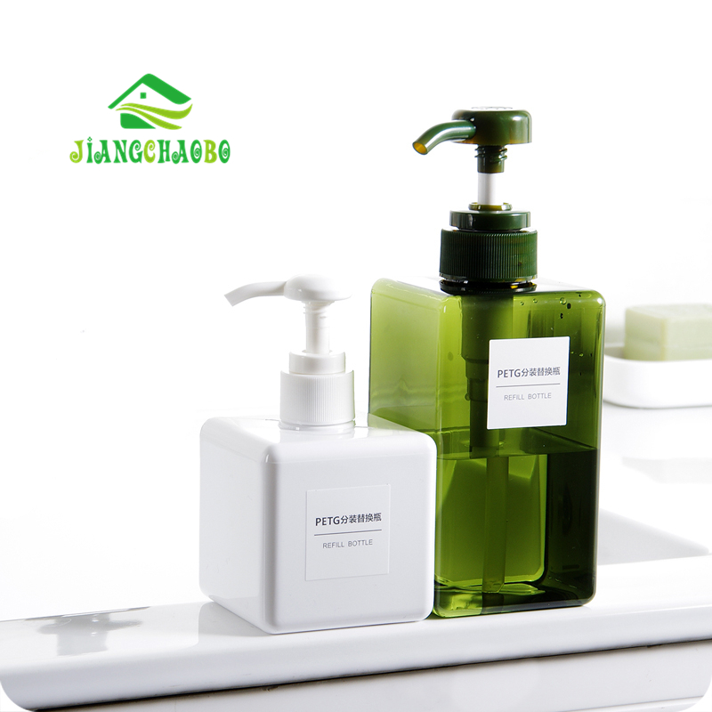 JiangChaoBo Shower Gel Pressed Bottle Shampoo Moisture Bottled Bathroom Hand Soap Detergent Empty Lotion Bottle