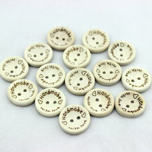 500pcs/pack 2 Holes Wooden Buttons Handmade Letter Love DIY sewing scrapbook craft Cardmaker for Garment accessories