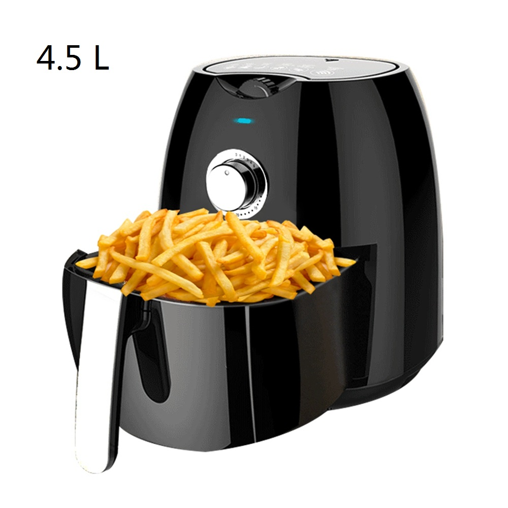 CUKYI 4.5L Large Capacity Household Multifunction Without Oil Electric Fryer Smokeless Electric Baking Oven Non-stick BBQ Grill