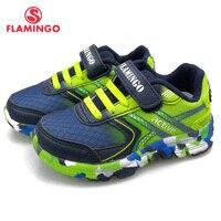 FLAMINGO Spring Sport Running Children Shoes Hook&Loop Outdoor Navy Sneaker for Kids Size 23-29 Free Shipping 91K-JSZ-1301