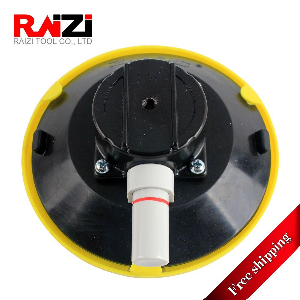 Raizi 6 Inch Vacuum Suction Cups Hand Pump Small Glass Suckers, Vacuum Sucker Mount Base M6 Female Thread(Free Shipping)