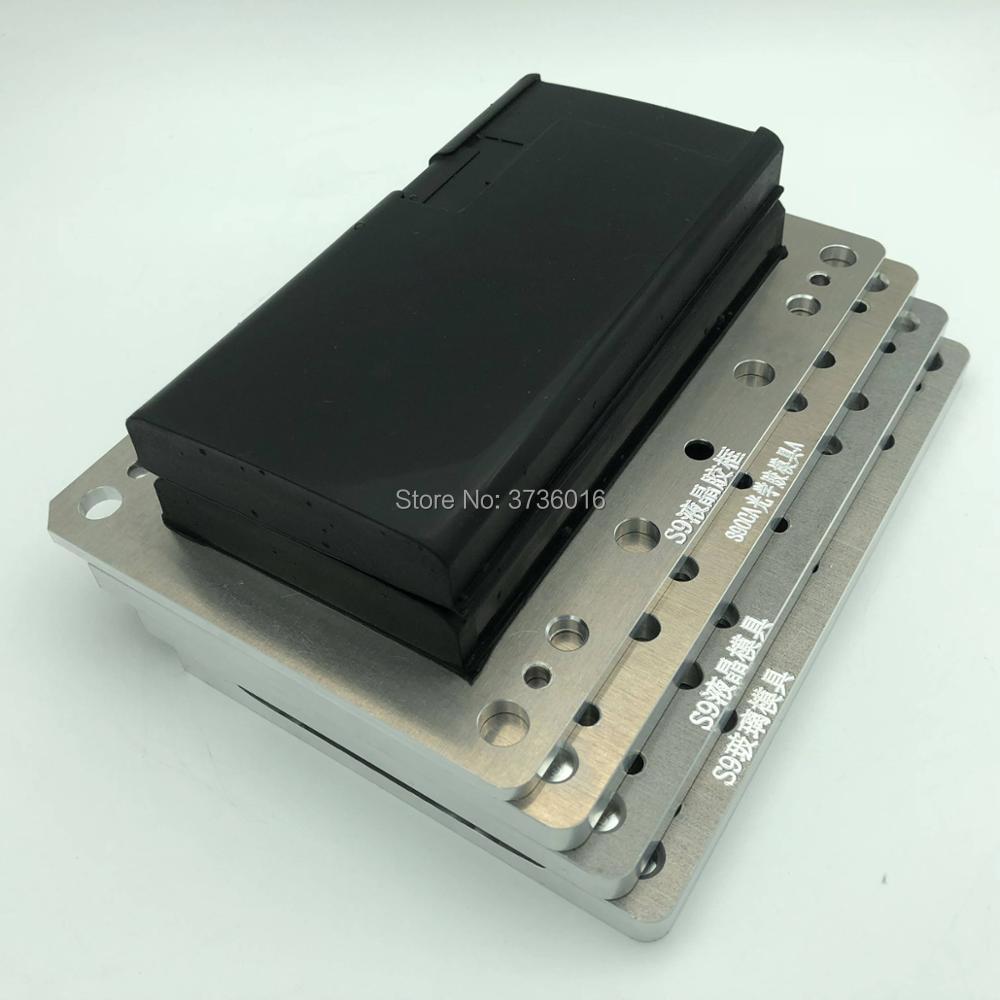 YMJ ungebogenen flex laminieren form für samsung S9 oca glas rand lcd Ungebogenen flex vakuum laminieren für handy reparatur