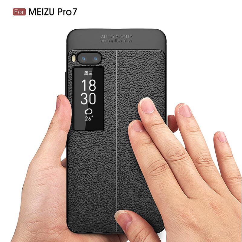 Litchi leather silicone case Meizu Pro 7 (7)