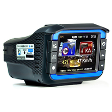 With Russian 3in1 Car Camera DVR GPS HD 720 p Car 2.7 Inch Screen display Speed Radar Detector Fixed and flow Velocity