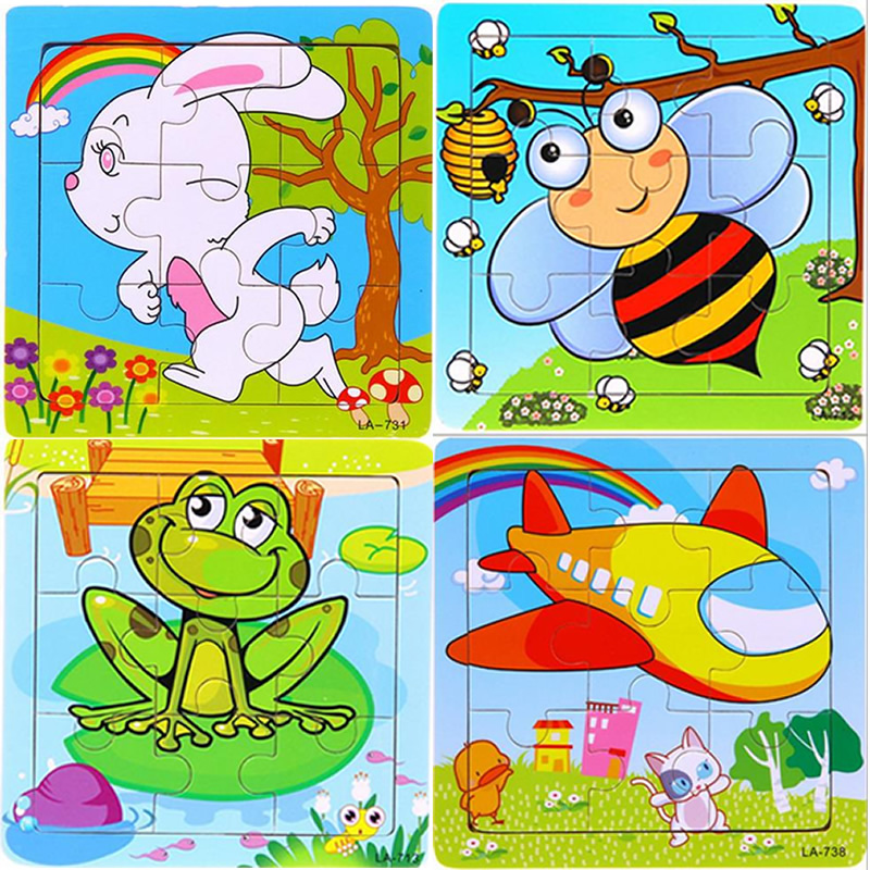 24 stilovi Životinje Drvene 3d Puzzle Dječji Obrazovne igračke - Igre i zagonetke - Foto 2