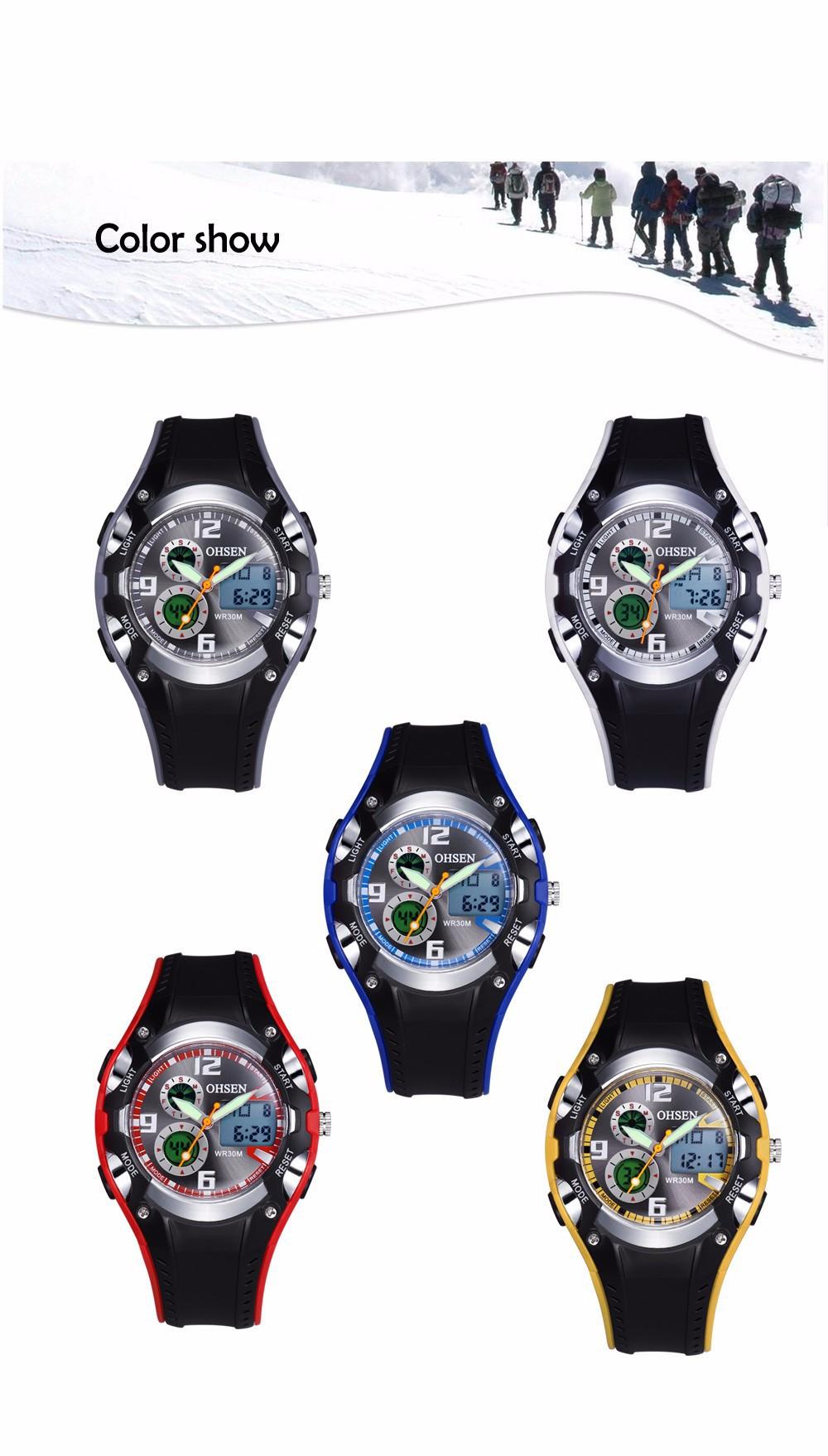Original Ohsen Brand Fashion Sports Men's Watches 30M Waterproof Rubber Black Rubber Band Digital Sport Wristwatch for Men Gift (22)