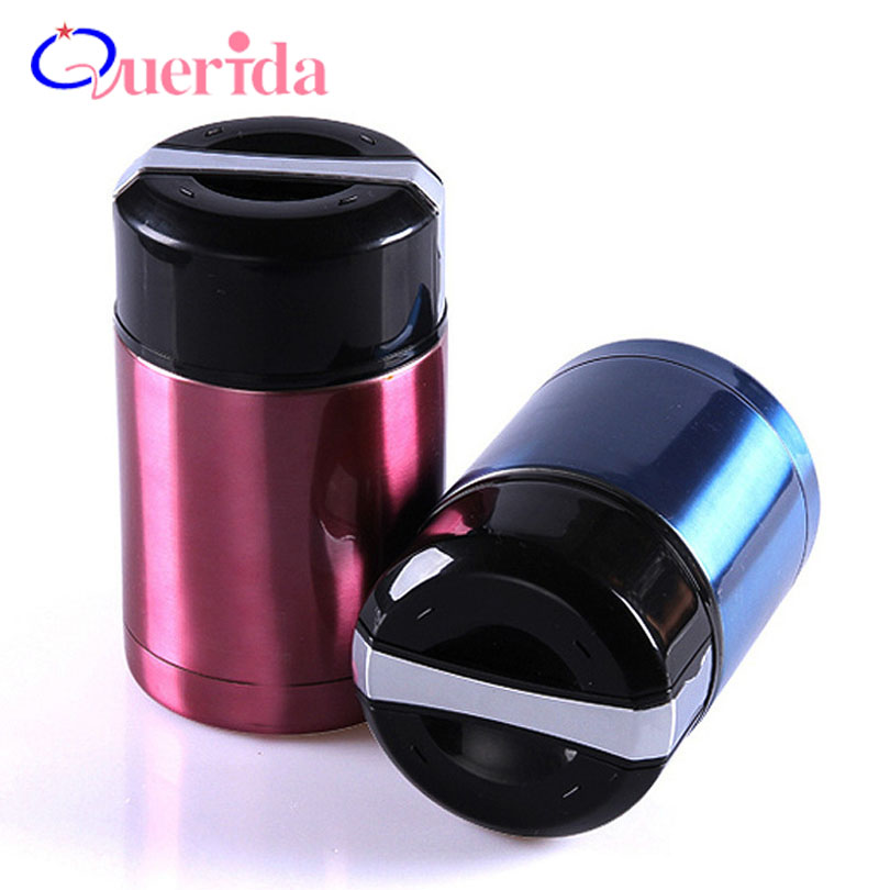 portable korean style leak proof bento box stainless steel vacuum thermos lunch box for kids. Black Bedroom Furniture Sets. Home Design Ideas