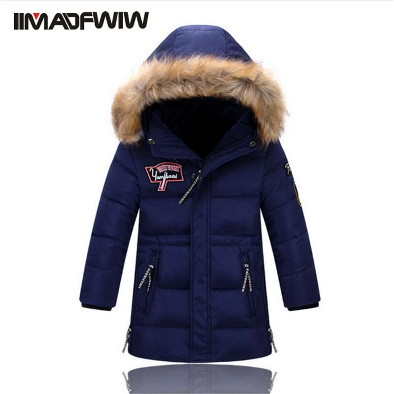 Aliexpress.com  Buy 2016 New Boys Winter Long Down Jackets Outerwear Coats Fashion Big Fur ...