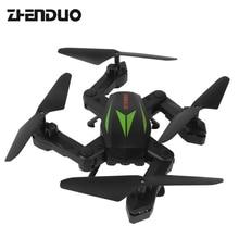 Brinquedos F12W 2.4G 6-Axis ZhenDuo Altitude Hold HD Câmera WI-FI FPV RC Quadcopter Zangão Dobrável Controle remoto Helicópteros de Controle Remoto