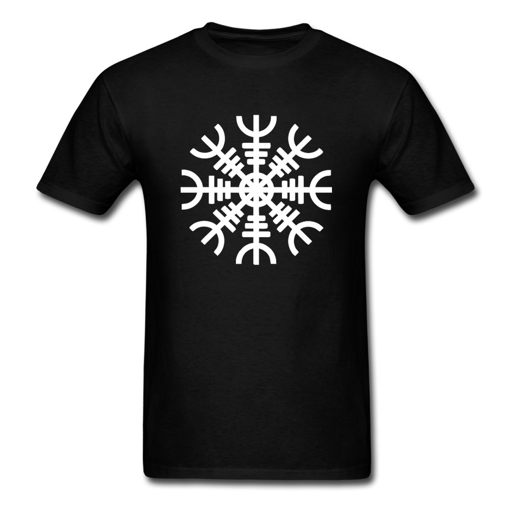 Black t shirt online design - Design T Shirt Online Viking Symbol Logo Teenage O Neck Short Sleeve Tee Shirts New