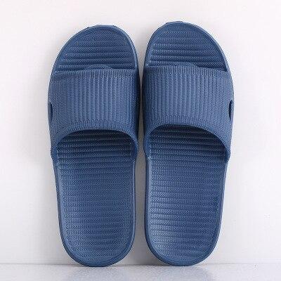 Парные комнатные тапочки eva; домашние сандалии и шлепанцы для отеля; женские летние нескользящие домашние тапочки для ванной; мужские домашние тапочки; - Цвет: Sea blue