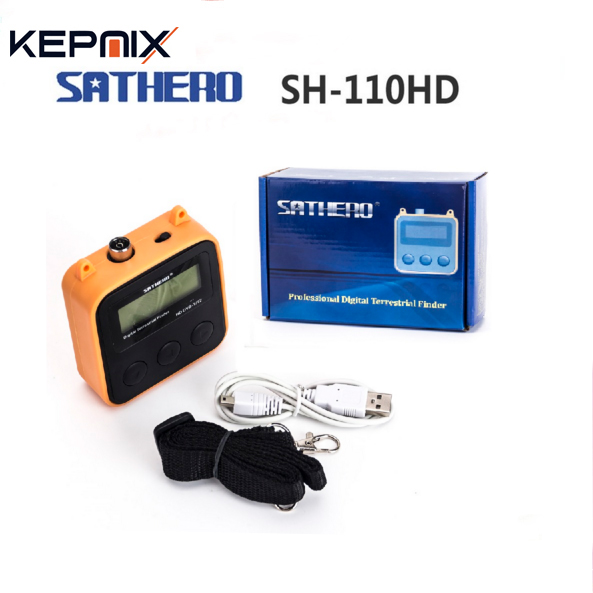цена на dvb-t2 finder Sathero SH-110HD DVB T2 LCD Screen Pocket Digital Terrestrial Finder Support QPSK DVB-T2 Digtal Signal Meter
