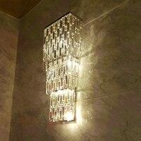 קיר במלון אולם אור מקורה קיר הוביל אורות לובי משרד מלון בית מלון מנורת מסדרון אורות סלון קריסטל פמוט