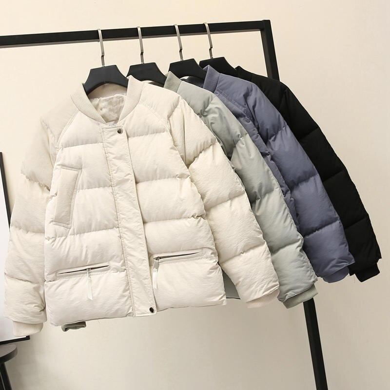 Winter Jacket Women Coat   Parka   Warm Thicken Down Cotton Jacket Female Casual Streetwear Padded Ladies Winter Coat Jacket Q1523