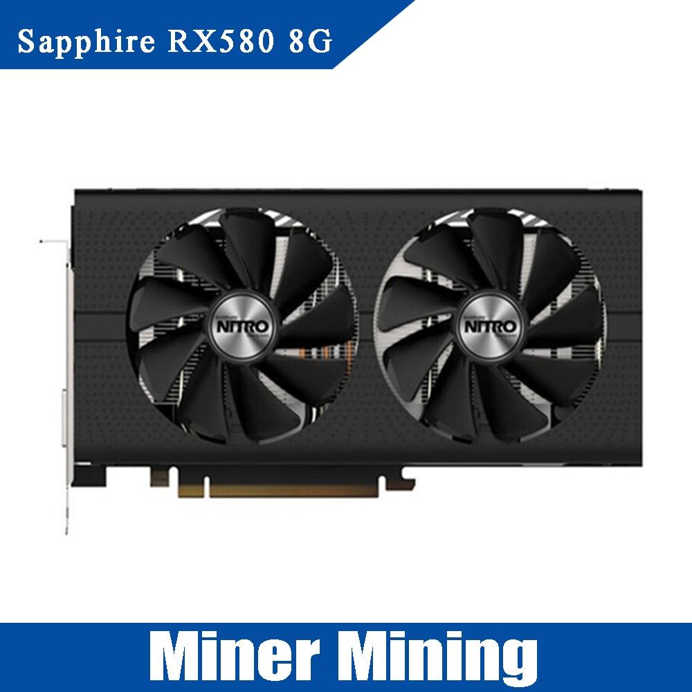 Samsung Sapphire NITRO Radeon RX 580 OverClock 8GB GDDR5 w//Original Box