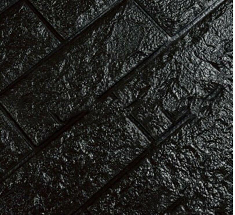 3D настенные наклейки имитация кирпича Декор для спальни водонепроницаемые самоклеящиеся обои для гостиной кухни ТВ фон Декор - Цвет: Black 60x60cm