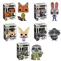 Funko Zootopia Nick Wilde, Ele-Finnick , Mr. Big, Judy Hopps and Flash Pop! Vinyl Figures Collection 3.75'' with Gift Box