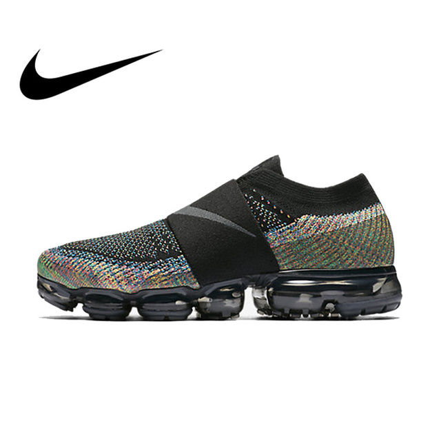 pretty nice de1ac 8949d US $80.44 80% OFF|Original Authentic Nike Women Shoes Air Vapor Max FlyLine  Rainbow Cushion Cushion Comfortable Running Shoes Sport Outdoor AA4155-in  ...
