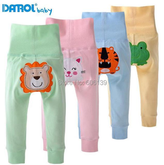 Danrol nuevo PP los niños de pantalones del vientre de algodón bebé alto de la cintura pantalones envío gratis DR0109