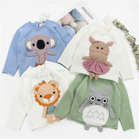 2018 INS HOT KIDS HAND MADE CARTOON SWEATERS BEAR OWL PATTER SWEATERS ELEPHANT SWEATERS BOYS CLOTHING GIRLS CLOTHING VESTIDOS