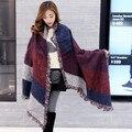 2016 Mulheres Da Moda Inverno Cobertor Cachecol Feminino Cashmere Lã Pashmina Xaile do Lenço Quente Grosso Cachecóis Wraps Capa Poncho