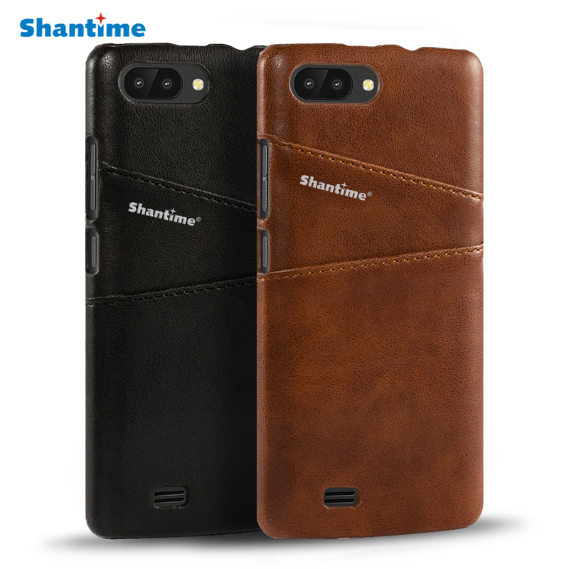 Luxury Vintage Pu Leather Case For Blackview A20 Case Cover Business Phone Bag Case For Blackview A20 Wallet Card Slots Case