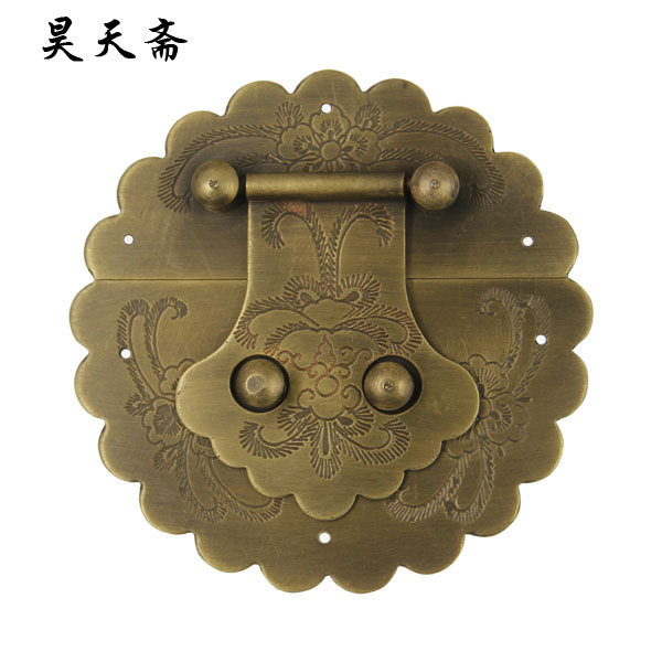 [Haotian vegetarian] Ming and Qing antique furniture, copper fittings copper box buckle copper box lock HTN-046 купить
